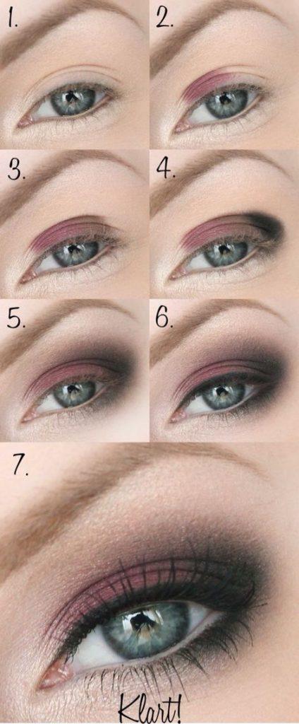 Partes do olho na maquiagem