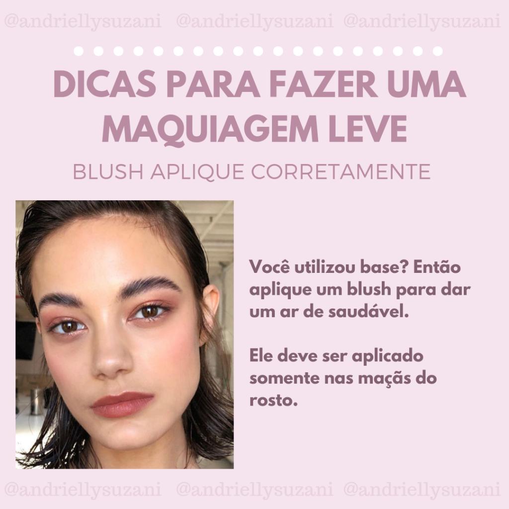 maquiagem blush