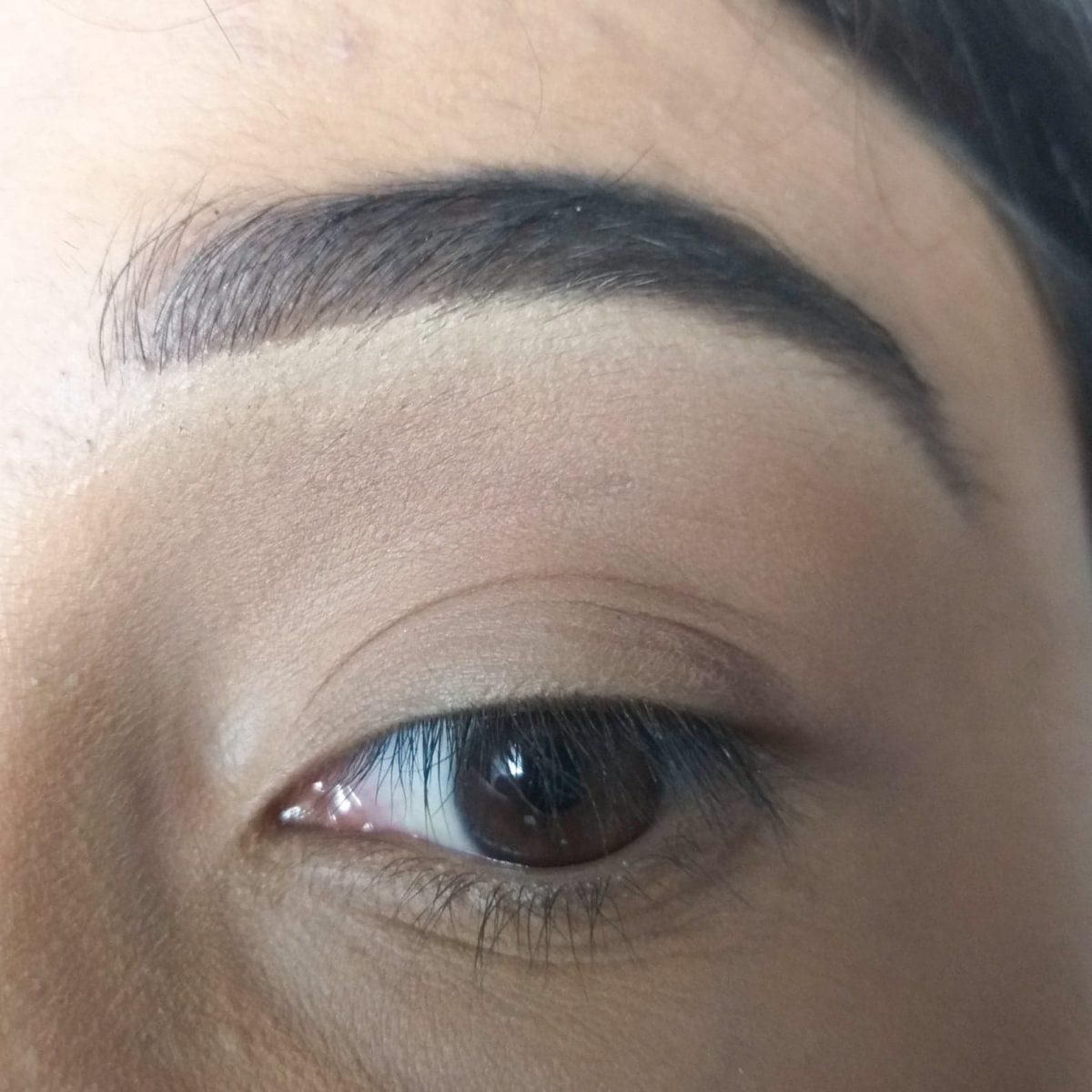 olho marrom esfumado simples