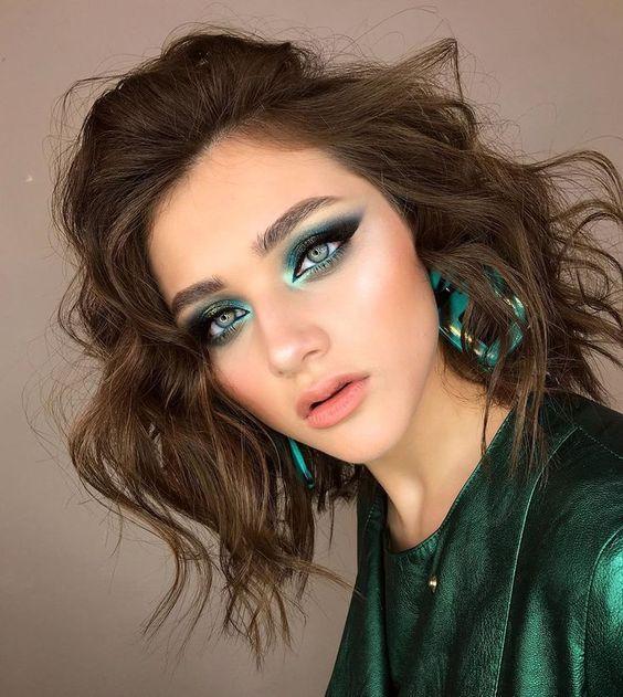 maquiagem verde natal 2019