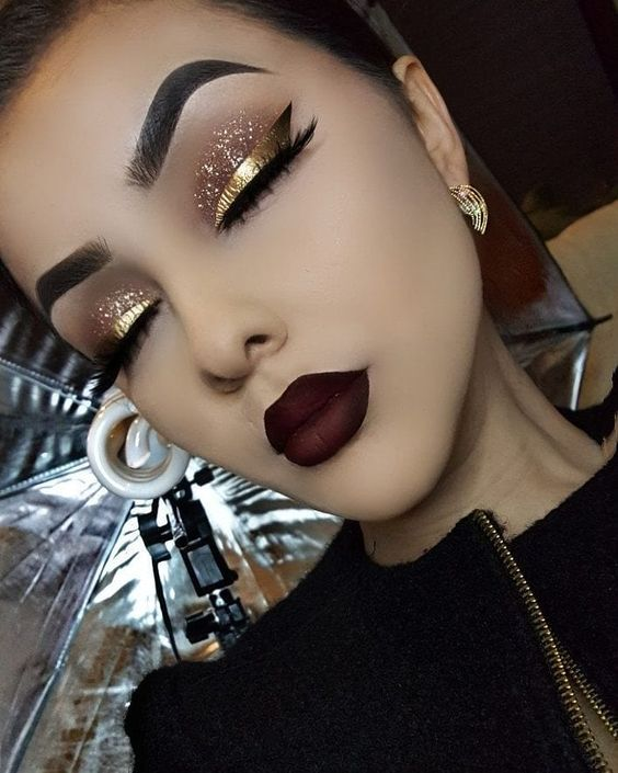 maquiagem dourada natal 2019