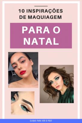 maquiagem natal 2019