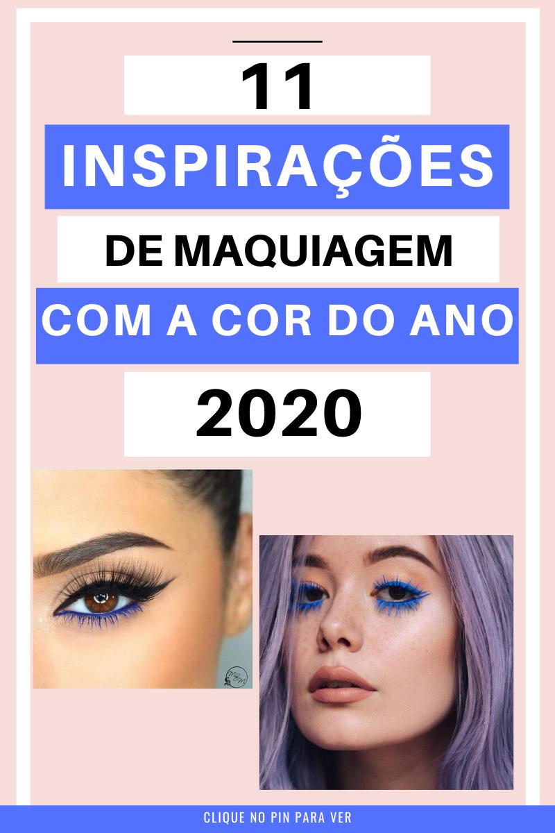 maquiagem cor do ano pantone classic blue 2020