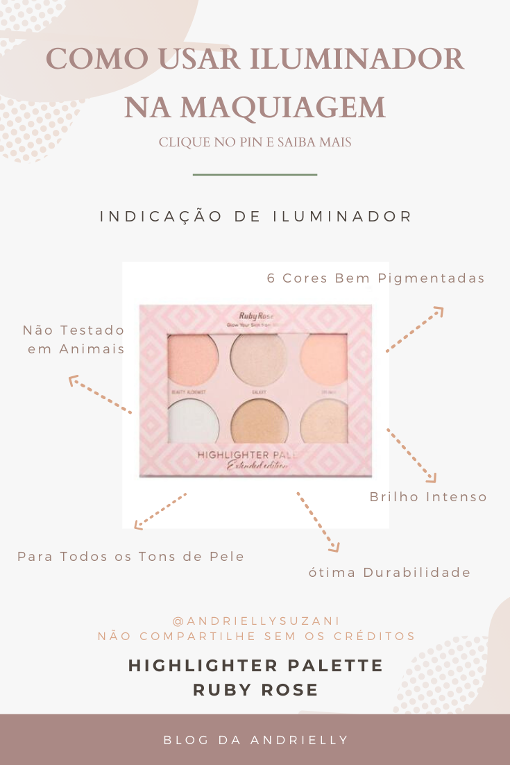 iluminador RUBY ROSE highlighter PALETTE