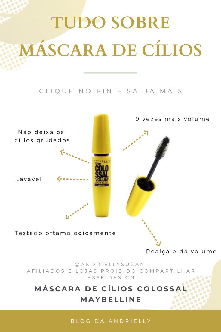 MÁSCARA DE CÍLIOS COLOSSAL maybelline