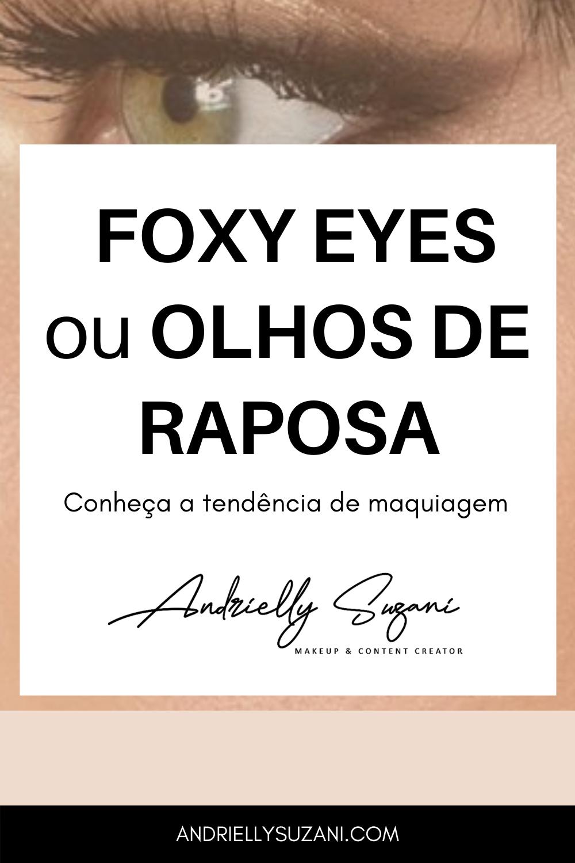 maquiagem fox eyes