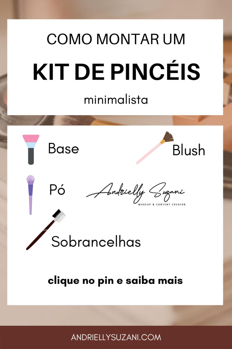 como montar um kit de pinceis minimalista