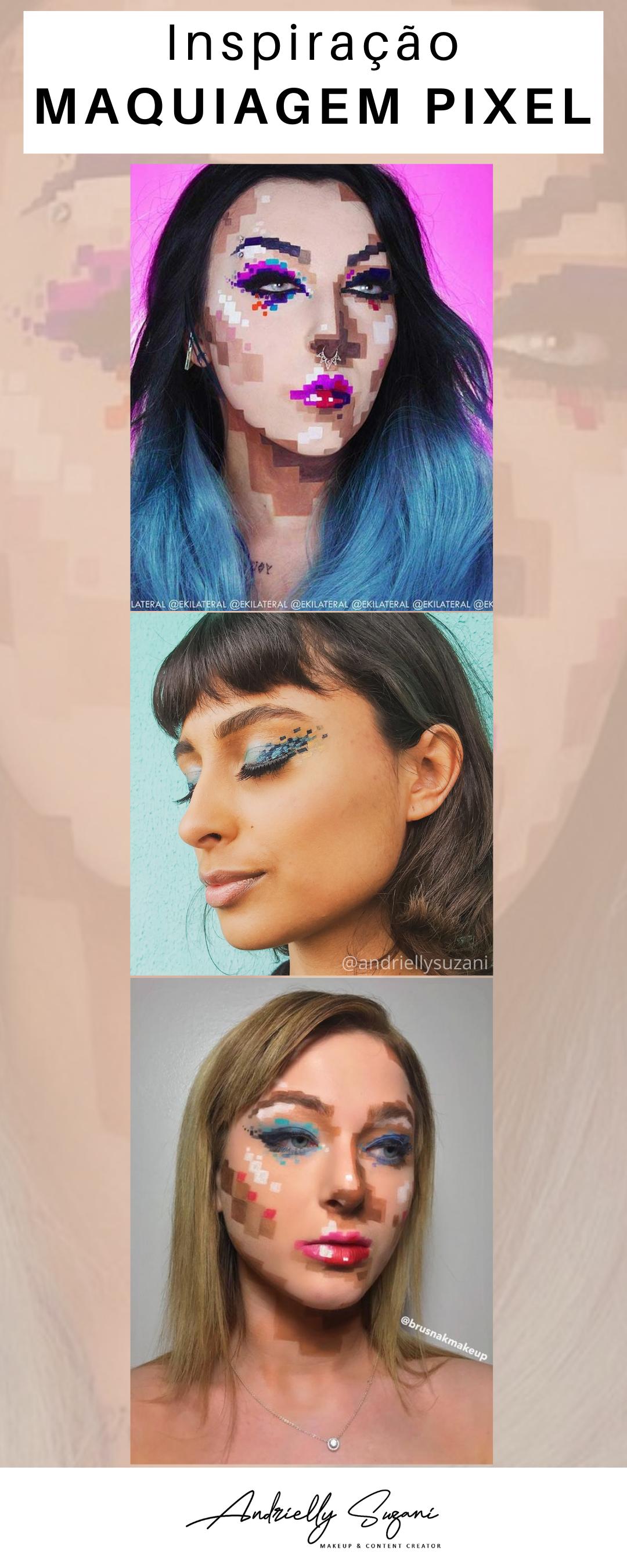 maquiagem de pixel
