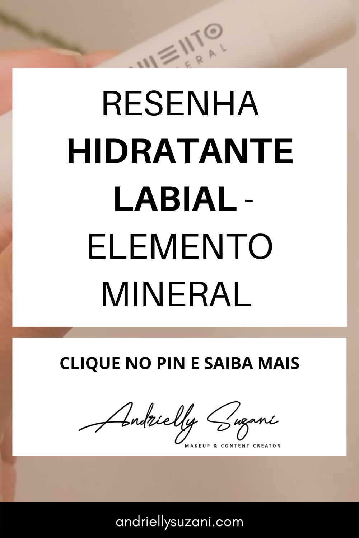 bálsamo hidratante labial elemento mineral