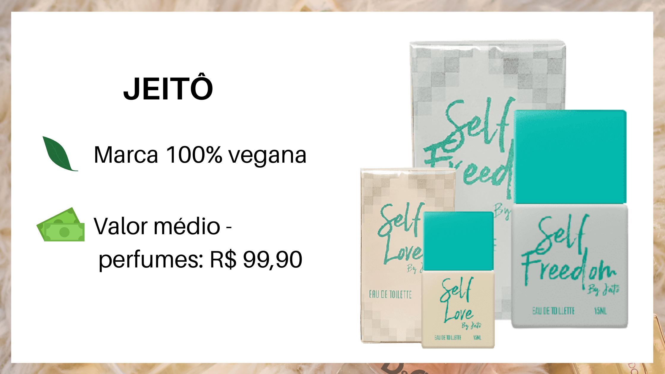 Jeitô Perfumes Nacionais Veganos